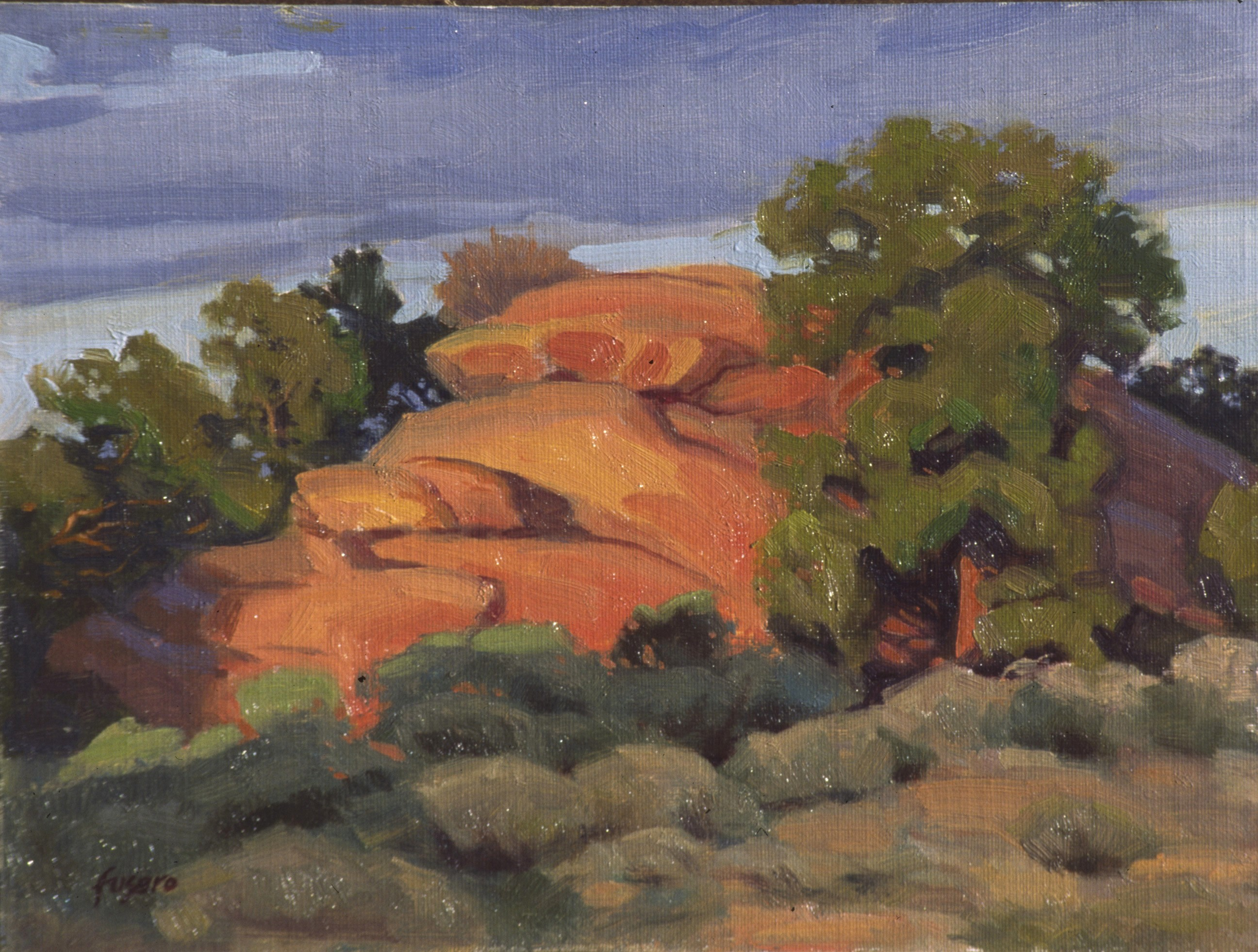 Red Rock Evening • SOLD